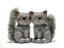 keramiska katter Arkivbilder