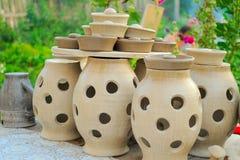 keramiska krukar Fotografering för Bildbyråer
