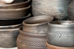 keramiska krukar Arkivbilder