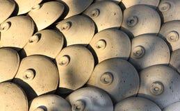 Keramiska krukor, krus av lera blommar, den Thanh Ha hemslöjdbyn, Hoi An, Vietnam Arkivfoton