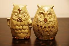 keramiska owls två Arkivfoton