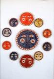 Keramiska plattor på en vägg, Mijas Arkivfoto