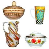 Keramiska produkter exponeringsglas och lera Royaltyfri Foto