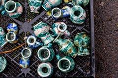 Keramiska produkter keramiska krukor, tillbringare Fotografering för Bildbyråer