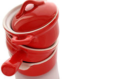 Röda tre panorerar Arkivbild