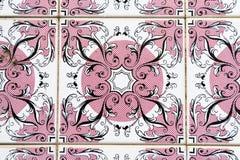 keramiska rosa tegelplattor Arkivbilder