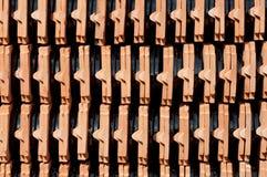 keramiska taktegelplattor Fotografering för Bildbyråer