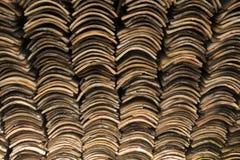 Keramiska taktegelplattor för gammal lera Royaltyfri Fotografi