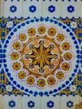 Keramiska tegelplattor för färgrik tappning royaltyfri fotografi