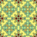 Keramiskt bel?gga med tegel texturerar Ursnygg s?ml?s patchworkmodell fr?n f?rgrika prydnader f?r keramiska tegelplattor vektor illustrationer