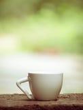 Keramiskt exponeringsglas för vitt kaffe royaltyfri fotografi