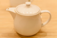 Keramiskt fotografi för tekannaobjekt; teatime för sunt Royaltyfria Bilder