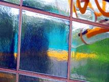 Keramiskt fyrkanter och neon Fotografering för Bildbyråer