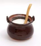 keramiskt socker för bunke Arkivfoto