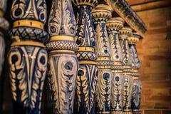 Keramiskt staket i Plaza de Espana i Seville, Spanien royaltyfri foto