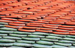 keramiskt tak i tempel Royaltyfri Foto
