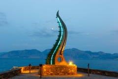 Keras Amaltheias zabytek w Agios Nikolaos miasteczku przy lato wieczór, Crete Fotografia Royalty Free