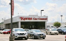 Keras Car Central Used Car Dealership. Keras Car Central sells pre-owned Gmc, Chevy, Ford, Toyota, Nissan, Mazda and other major brands of automobiles Stock Image