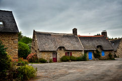 Kerascoet, traditional village in Brittany France Stock Image