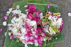 Keraton Solo Offerings. Morning offerings of Surakarta Royal Palace, Indonesia Stock Photo