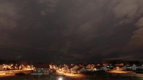 Kerava, Finland bij nacht timelapse stock videobeelden