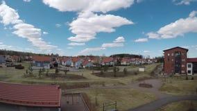 Kerava, Finland in de lente timelapse stock video