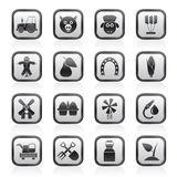 åkerbruka lantbruksymboler Royaltyfria Bilder