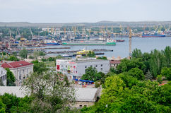 Kerch Sea Commercial Port Stock Image