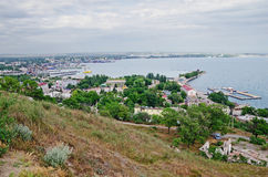 Kerch Sea Commercial Port Royalty Free Stock Photography