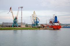 Kerch Sea Fishing Port Royalty Free Stock Photography