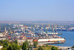 Kerch sea trading port. Royalty Free Stock Images