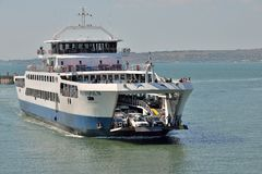 The Kerch Strait, a ferry, a handsome ferry. royalty free stock image