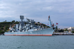 Kerch 753 was a Kara-class missile cruiser of the Soviet and later Russian Navy. Royalty Free Stock Photo