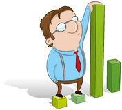Kerel die statistieken toont Royalty-vrije Stock Afbeelding