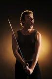Kerel met een zwaard Royalty-vrije Stock Afbeeldingen