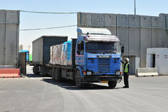Kerem Shalom Crossing Fotografie Stock