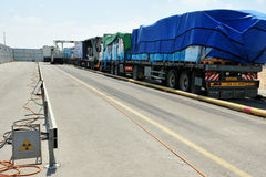 Kerem Shalom Crossing Immagini Stock