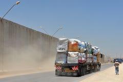 Kerem Shalom gränsövergång Arkivfoto