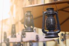 Kereosene lampdekor Arkivfoto