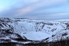 Kerið krater w Iceland zdjęcie stock