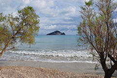 Keri beach turtle island Stock Images