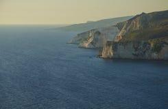 Keri cliffs Zakynthos stock photo