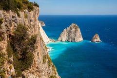Keri cliffs in Zakynthos Zante island in Greece. Keri cliffs in Zakynthos Zante island , Greece Stock Photos