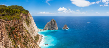 Keri cliffs in Zakynthos Zante island in Greece. Keri cliffs in Zakynthos Zante island - Greece Royalty Free Stock Photography