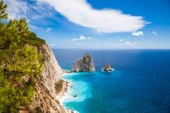 Keri cliffs in Zakynthos Zante island in Greece. Keri cliffs in Zakynthos Zante island - Greece Stock Photo