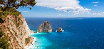 Keri cliffs in Zakynthos Zante island in Greece Royalty Free Stock Photo