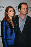 Keri Russell, Matthew Rhys. NEW YORK-OCT 4: Actors Keri Russell (L) and Matthew Rhys attend 'The Americans' during 2013 PaleyFest: Made In New York at Paley Stock Image