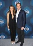 Keri Russell & Matthew Rhys. PASADENA, CA - JANUARY 17, 2015: Keri Russell & Matthew Rhys - stars of The Americans - at the Fox Winter TCA 2015 All-Star Royalty Free Stock Photo