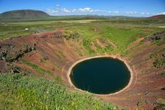 Kerid crater Stock Image