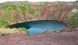 Kerid Crater, Iceland Royalty Free Stock Photography